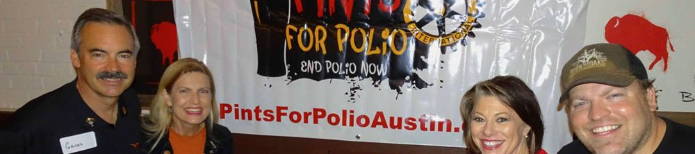 Pint for Polio banner