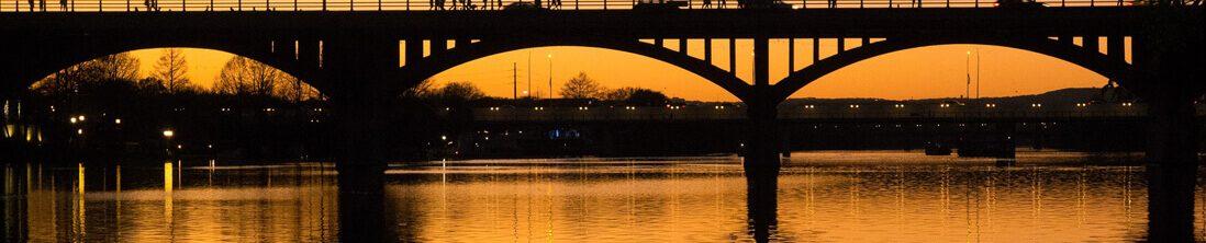 Pennybacker bridge silhouette
