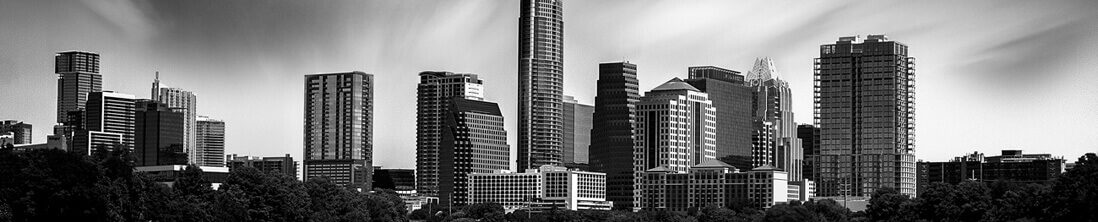Austin Black and White Skyline