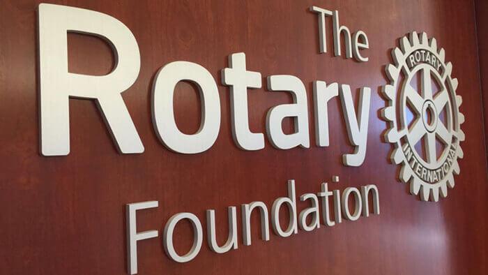 Rotary Foundation Sign